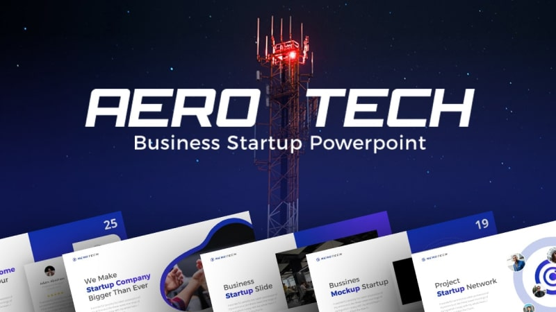 Aerotech Technology PowerPoint Template
