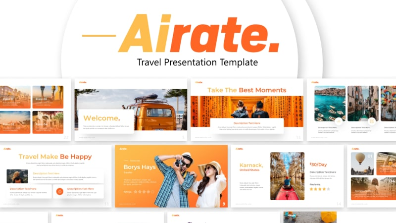 Airate Traveling PowerPoint Template New