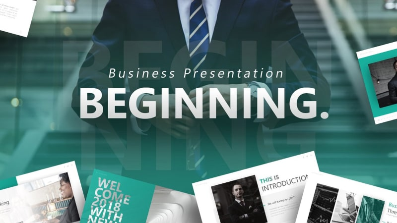Beginning Business PowerPoint Template