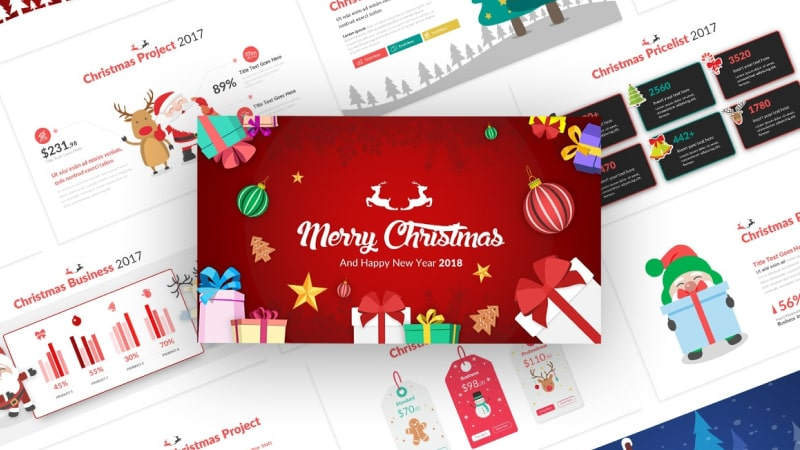 Christmas Event PowerPoint Template Christmas Asset