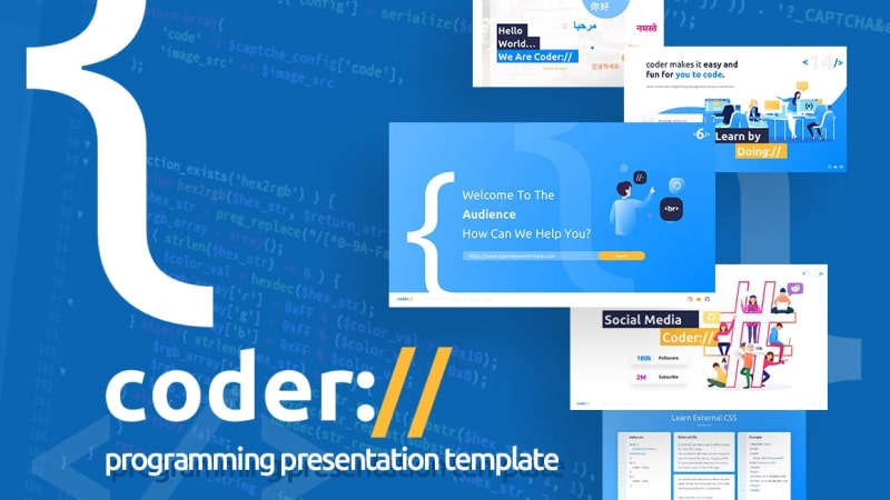 Coder Programmer PowerPoint Template