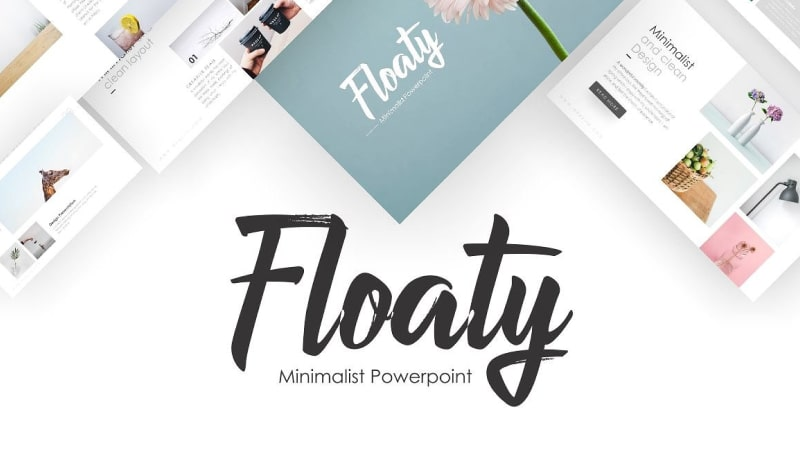 Floaty Minimalist PowerPoint Template