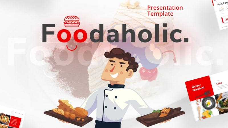 Foodaholic Culinary PowerPoint Template