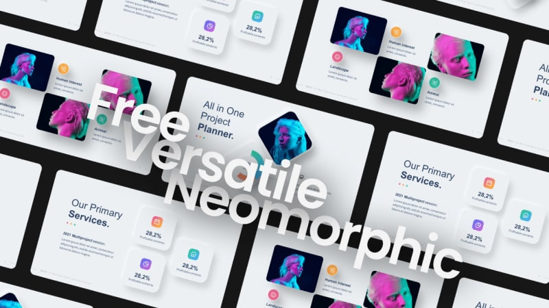 Free-2021-Versatile-Neomorphic-Presentation-Template