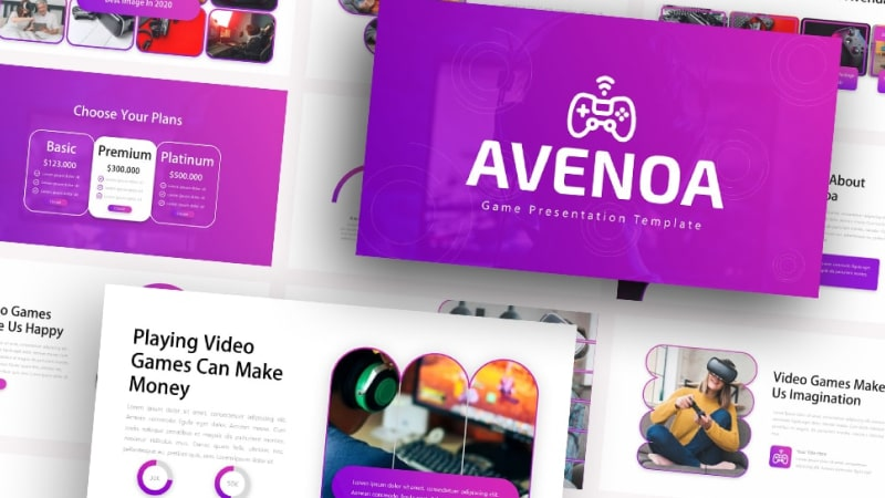 Free-AVENOA-Playing-Vidio-Game-Powerpoint-Template