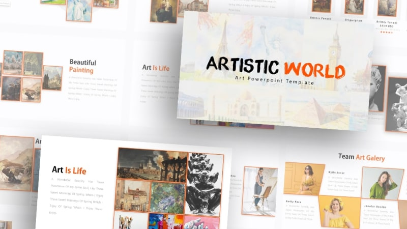 Free-Art-World-Art-Powerpoint-Template