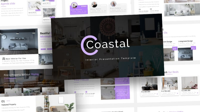 Free-Coastal-Interior-Powerpoint-Template