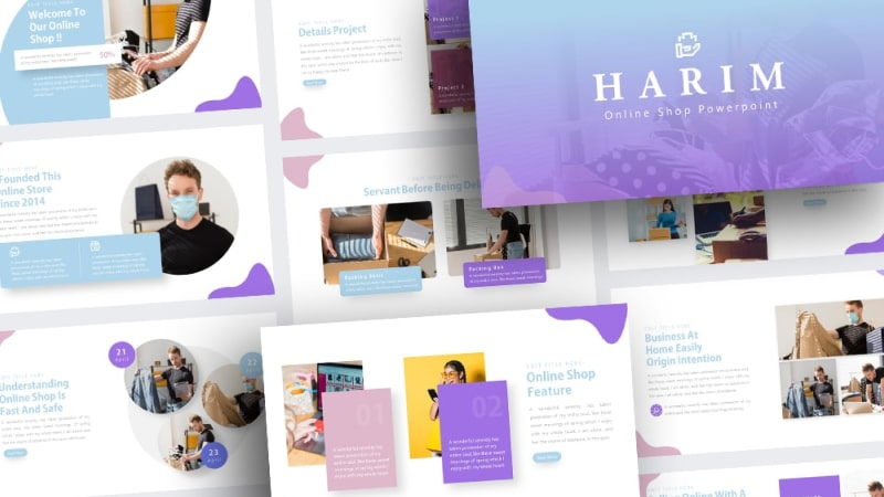 Free-Harim-Online-Shop-Powerpoint-Template
