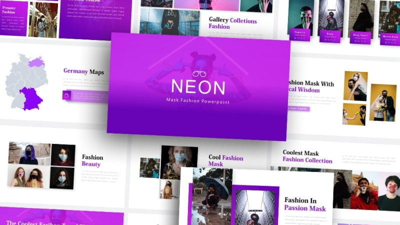Free-Neon-Mask-Fashion-Powerpoint-Template