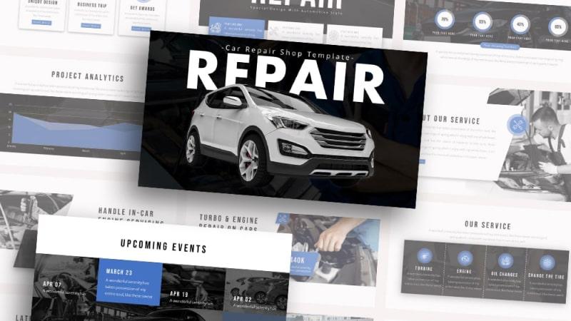 Free-Repair-Car-Repair-Powerpoint-Template
