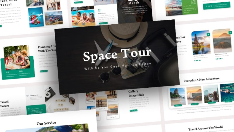 Space Tour PowerPoint Template