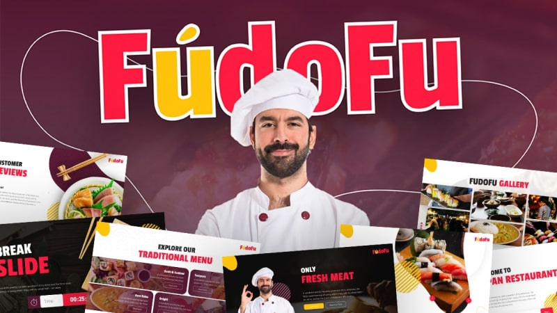 Fudofu Culinary PowerPoint Template