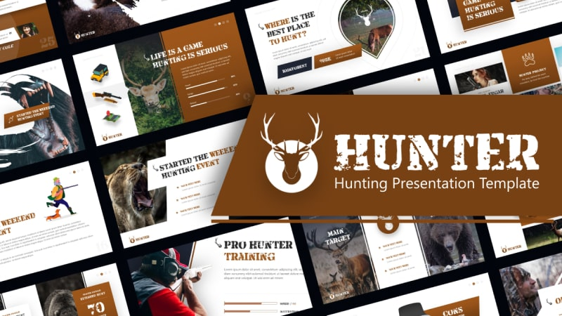 Hunter Hunting PowerPoint Template