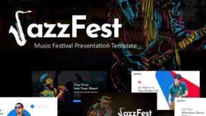JazzFest Music PowerPoint Template