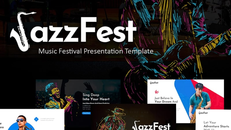 JazzFest Music PowerPoint Template