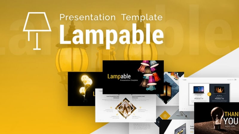Lampable Shop PowerPoint Template