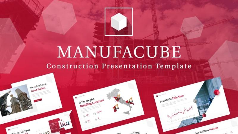 Manufacube – Machine Engineer Presentation Template