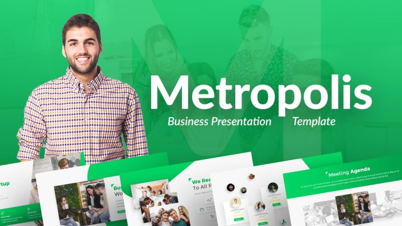 Metropolis Business PowerPoint Template