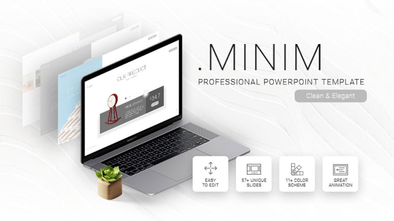 Minim Portfolio PowerPoint Template