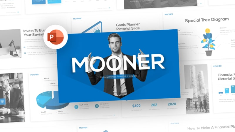 Mooner Financial PowerPoint Template