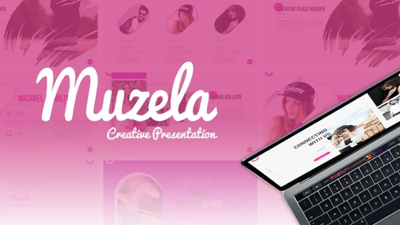 Muzella Fashion PowerPoint Template