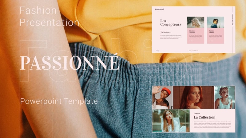 Passionne Fashion PowerPoint Template