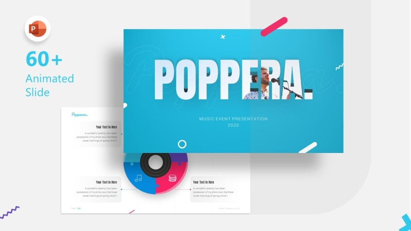 Poppera Music PowerPoint Template