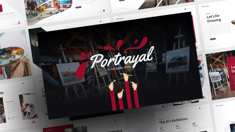 Portrayal Art PowerPoint Template