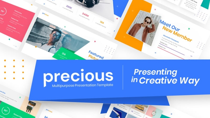 Precious Creative PowerPoint Template