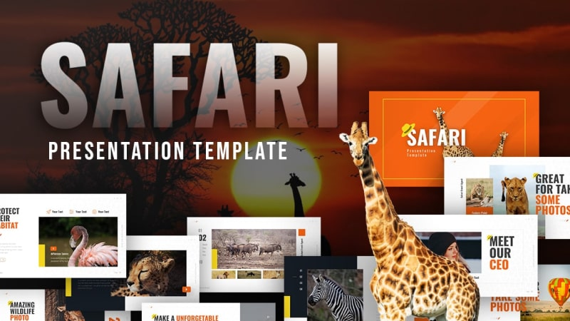 Safari Animal PowerPoint Template
