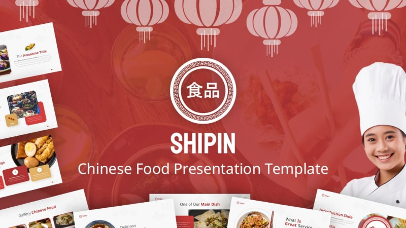 Shipin Culinary PowerPoint Template