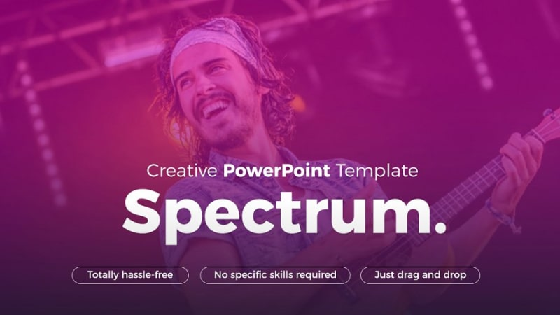 Spectrum Music PowerPoint Template