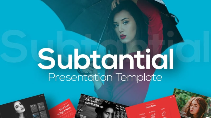 Subtantial Fashion PowerPoint Template