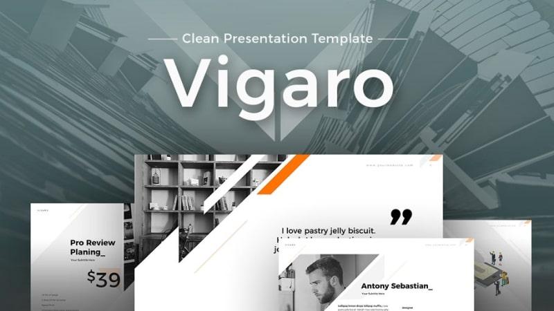 Vigaro Minimalist PowerPoint Template