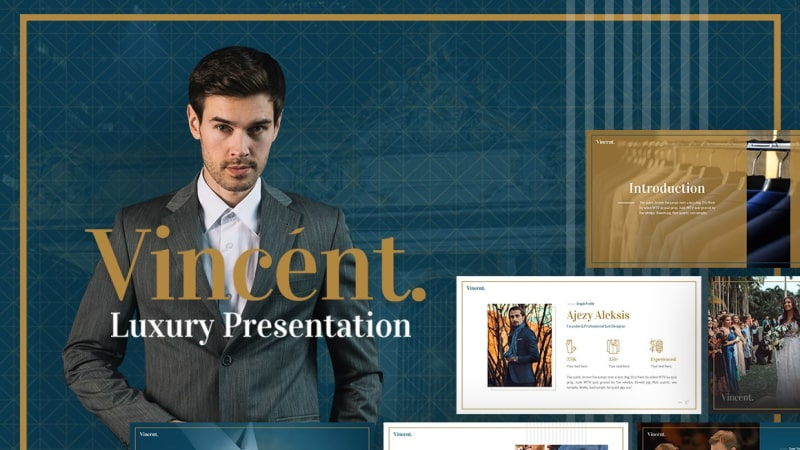 Vincent Fashion PowerPoint Template