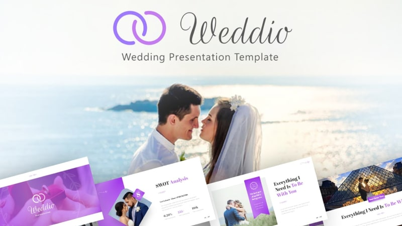 Weddio Wedding PowerPoint Template