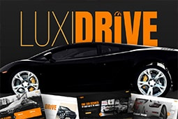 Luxidrive Car PowerPoint Template