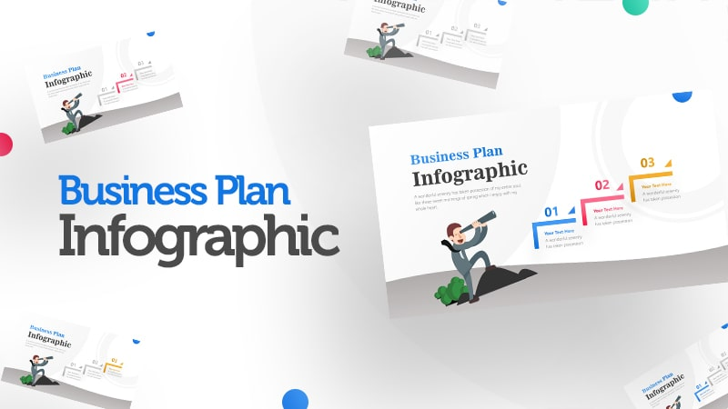 3 Steps For Business Man With Binocular Infographic Presentation 0