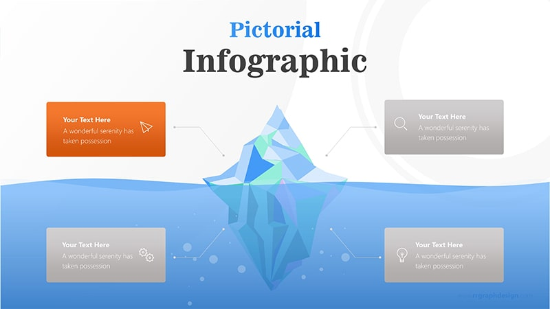 4 Business Options of Iceberg Diagram Infographic Presentation 2