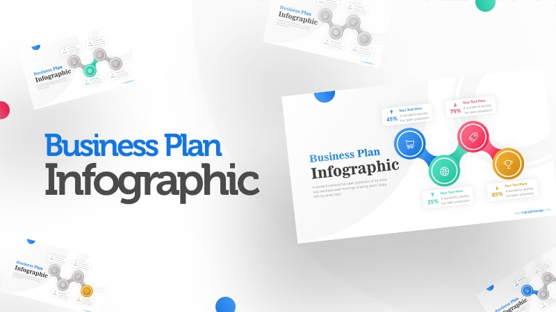 4 Connected Circle Options Infographic Presentation 0