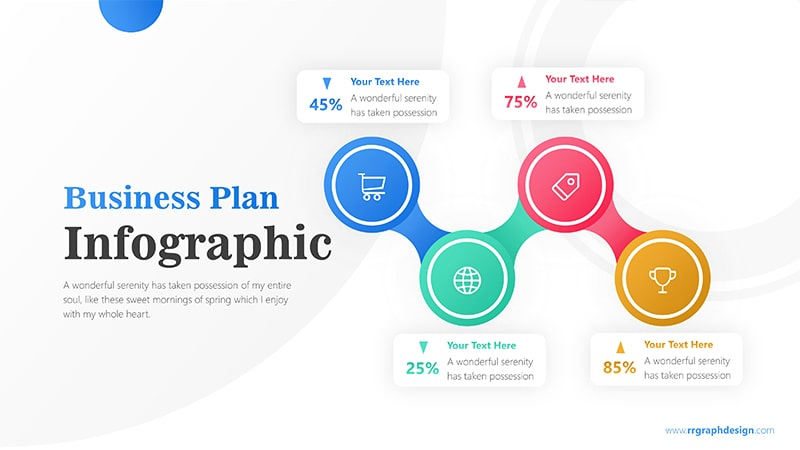 4 Connected Circle Options Infographic Presentation 1