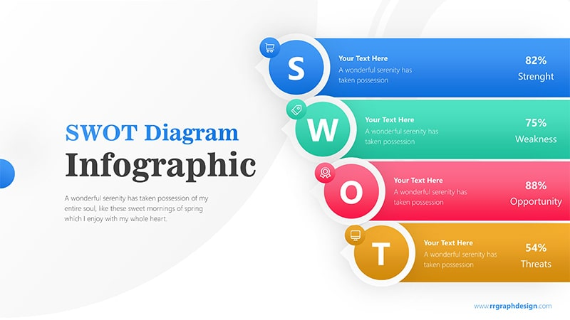 Business Analysis with Layer SWOT and Colorful Schemes Infographic Presentation 1