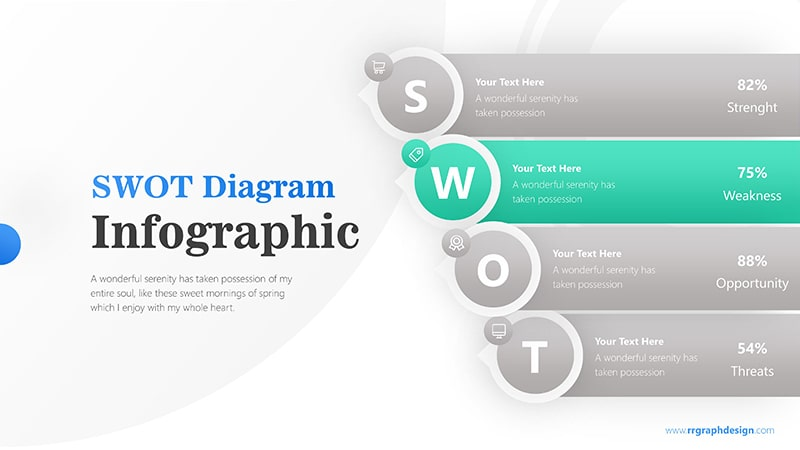 Business Analysis with Layer SWOT and Colorful Schemes Infographic Presentation 3