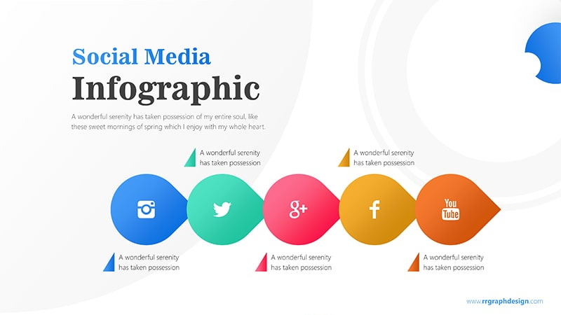 Business Diagram Circle arrow With Social Media Icons 1