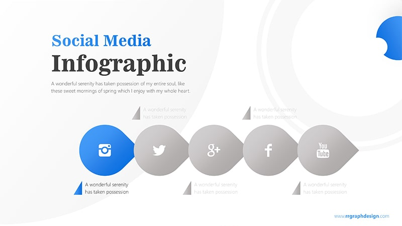 Business Diagram Circle arrow With Social Media Icons 2