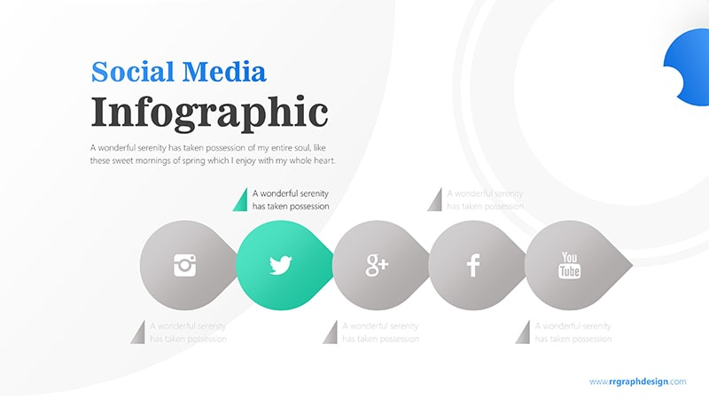 Business Diagram Circle arrow With Social Media Icons 3