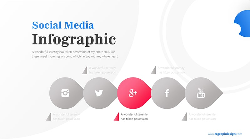 Business Diagram Circle arrow With Social Media Icons 4