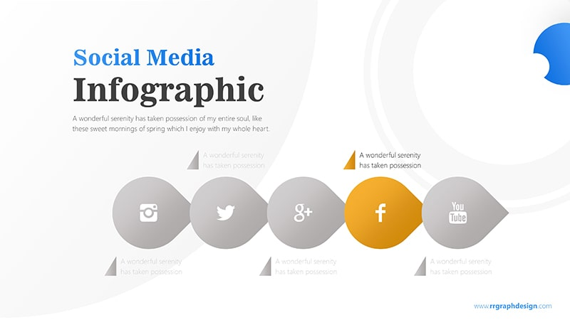 Business Diagram Circle arrow With Social Media Icons 5