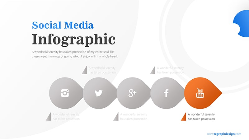 Business Diagram Circle arrow With Social Media Icons 6