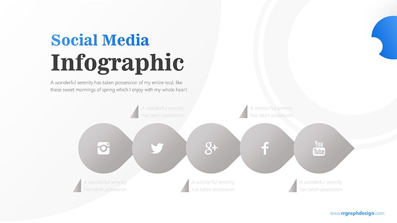 Business Diagram Circle arrow With Social Media Icons 7